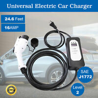 3x Faster EVSE Electric Vehicle Car Charger Level 2 Tesla Prius. 220V 16A J1772