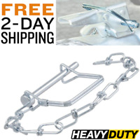 Trailer Safety Pin With Chain Tongue Coupler Latch Safety Clip Jack Legs CURT