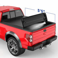 5.5FT 4-FOLD Truck Bed Tonneau Cover Soft Folding For 2015-2019 Ford F150
