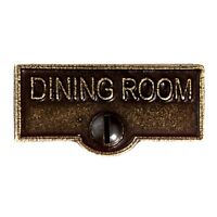 Switch Plate Tags DINING ROOM Name Signs Labels Cast Brass | Renovator's Supply