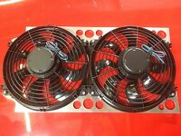 DeTomaso Pantera Fluidyne Aluminum Radiator Fan Kit With Brackets 71-96