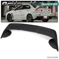 For 2008-17 Mitsubishi Lancer EVO10 Rear Spoiler Wing Matte Black Factory Style