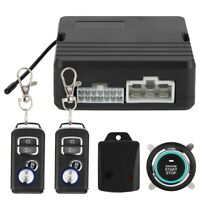 One Button Engine Start Car Alarm System Security Ignition Push Remote 12V