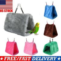 Pet Bird Parrot Parakeet Budgie Warm Hammock Cage Soft Hut Tent Bed Hanging Cave