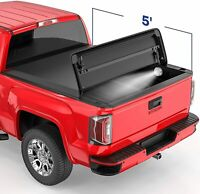 5FT 3 Fold Soft Truck Bed Tonneau Cover For Nissan Frontier Suzuki Equator