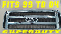 Ford CHROME Grille CONVERSION Black emblem 99-04 Super Duty F250 F350 F450 F550