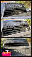 Distressed Ripped American Flag Window vinyl decal Fits SUV Silverado Dodge Ram