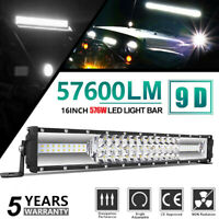20inch 1300W Led Light Bar Dual Row Spot Flood Combo Work UTE Truck SUV ATV 22''