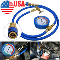 R134A A/C Car Air Conditioning Refrigerant Recharge Measuring Kit Hose Gauge New