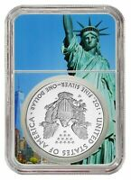 W Silver Eagle Proof NGC PF70 Ultra Cameo - First Day Statue Liberty Core