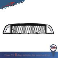 For 2013-2014 Ford Mustang Non-Shelby Front Bumper Upper LED Grille Black