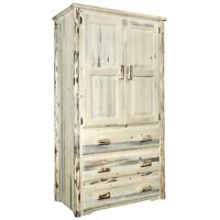 Montana Log Collection Wood Wardrobe In Lacquered Finish MWARNV