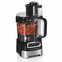 Hamilton Beach,10-Cup Stack & Snap Food Processor with Big Mouth, Black & Stainl