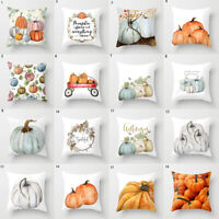 Halloween Pumpkin Pillow Case Waist Throw Cushion Cover Sofa Home Decor Supplies