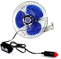 Car Fan 12 Volt Truck Car  Cooling Ocillating Air Fan Portable 12v Lighter plug