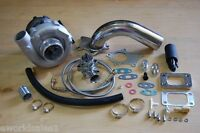 T3/T4-Turbocharger-Kit-T3-T4-Turbo-Downpipe-BOV-Braided-Stainless-Feed-Drain-NEW