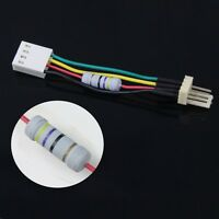 Desktop PC Fan Speed Noise Reduce 4 Pins Resistor Cable Connector