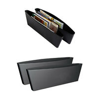 2pc Catch Caddy Box Seat Gap Slit Pocket Storage Auto Car Organizer Holder Black