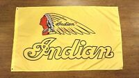 INDIAN MOTORCYCLES YELLOW FLAG BANNER 3X5FT SCOUT SCOUT SIXTY CHIEF ROADMASTER