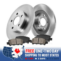 2 Rear Brake Rotors And 4 Ceramic Brakes For Honda Pilot Acura MDX