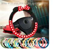 Car Steering Wheel Cover cute Cartoon Universal Interior Accessories Women Style