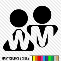 Restroom Vinyl Decal Sign, Bathroom Door Decal IV - Choice of Sizes and Colors