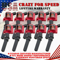10 High Performance Ignition Coils Pack for Ford 4.6L 5.4L V8 & 6.8L V10 DG508
