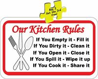 Funny Our Kitchen Rules Funny Decal Sticker  # 343