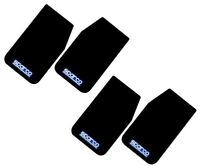 SPARCO Universal (Front & Rear Set) Mud Flaps Guards 2 PAIRS (BLACK 11