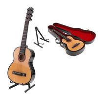 MagiDeal 1/4 Wood Guitar Model Instrument Home Desktop Decor Educational Toy