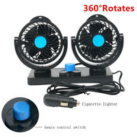 360° Rotates Portable Auto Air Conditioner Mini Car Dash Mounting Cooling Fan