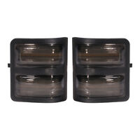 New Set of 2 Tow Mirror Smoked Turn Signal Lens Only for Super Duty 2008-16 Pair