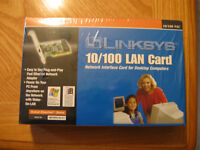 LINKSYS 10/100 LAN CARD NEW FACTORY SEALED for Desktop Computers