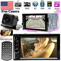 Bluetooth Radio 2Din Car Stereo Camera FM For Audi A1 A5 A6 Q3 A4 A8 S3 S4 S5 S6