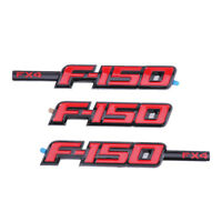 3pcs F-150 FX4 F150 Fender Tailgate Emblems Badges Sticker For Ford Pickup Truck