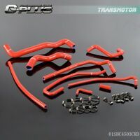 Red Silicone Radiator Hose Clamps Kit For CHEVY CORVETTE 5.7L LT1 V8 1991 - 1996