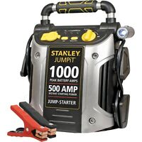 Battery Jump Starter 1000 Peak Portable Car Charger Booster Stanley 12-volt/USB