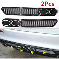 Car Exterior Accessories Tail Pipe Rear Fender Grid Simulation Vent Double Tube