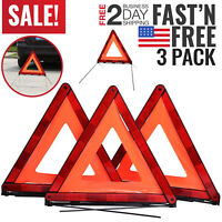 Warning Triangle Reflective Safety Emergency Hazard for Vehicles Cars Trucks