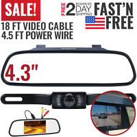 Backup Camera Mirror Car Rear View Reverse Night Vision Parking System Kit