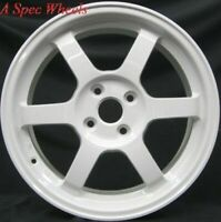 16X7 ROTA GRID WHEELS 4X100 WHITE RIMS FITS 4 LUG INTEGRA CIVIC NEON FIT MIATA