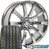 20x9 Wheels Tires TPMS Fit Dodge 300 SRT Chrome Rim Ironman 2253 B1W
