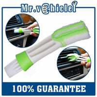 Double Heads Car Cleaning Brush Microfiber Car Vent Air-Condition Blind Brush