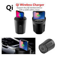 Universal Wireless Cup Style Phone Charger USB Car Charging Dock 3.2x3.2x3.9''