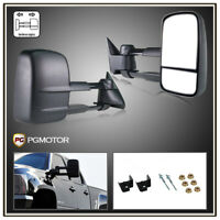 Trailer Tow Mirrors for 99-07 Ford F250 F350 SuperDuty Power Heated Amber Signal