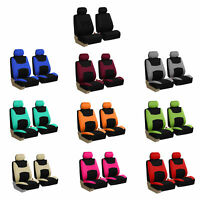 Universal Seat Covers For Car SUV Van w/ Air Freshener Full Set 11 Colors
