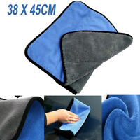 1x Car Soft Cleaning Cloth Drying Waxing Polish Towel Microfiber Absorbent Top