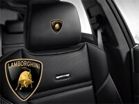 5x Lamborghini Sticker logo for leather seats and other flat and smooth surfaces