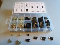 170 Count U-Clip & Screw Assortment 5 sizes with storage container      72NR