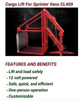 Link Cargo Lift for sprinter Van's. But my be put in other vehicles 400 lb lift